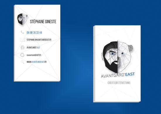 création de carte de visites pour Avantgard'EAST