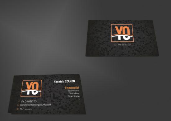 création de carte de visites pour Y.O Événementiel
