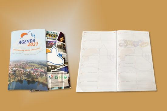 creation de contenus print, agenda 64 pages
